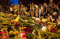 People place flowers at dutch embassy in kyiv ukraine july after malaysia airlines boeing originating amsterdam crashed Stock Photo