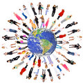 People on the planet earth Royalty Free Stock Photo