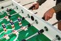 People Playing Enjoying Foosball Table Royalty Free Stock Photo