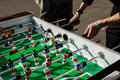 People Playing Enjoying Football Table Royalty Free Stock Photo