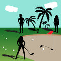 People playing golf Royalty Free Stock Photo
