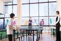 People playing ping pong Royalty Free Stock Photo