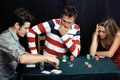People playing poker at home Royalty Free Stock Photography