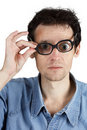 People with poor vision Stock Photos