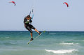 People practicing kitesurf on the beach of torre canne italy june puglia italy Stock Photography