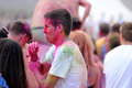 People at the pringles holi colour party at fib festival internacional de benicassim festival benicasim spain july on july in Stock Photography