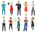 People profession collection Royalty Free Stock Photo