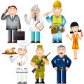 People professions occupations set of of various Stock Photography