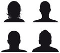People profile silhouettes Stock Photography