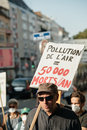 People protesting against air pollution Royalty Free Stock Photo