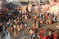 People purify themselves from sins in the ganges in the holy city of haridwar india Stock Photography