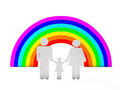 People and rainbow Stock Images