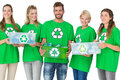 People In Recycling Symbol Tsh...