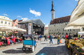 People relax on the celebration of the Days of the Old Town On May 31, 2015 In Tallinn Royalty Free Stock Photo