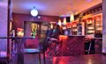 People relaxing in a bar Royalty Free Stock Photo