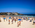 People relaxing at bondi beach on christmas day Royalty Free Stock Photography