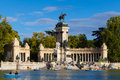 People relaxing in the pond of retiro park in madrid spain september rowboats scenic buen besides alfonso xii monument on Stock Images