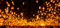 People release paper sky lantern in yee peng festival chiang am Stock Images
