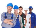 People representing diverse professions group of on white background Stock Image