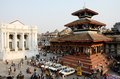 People resting at durbar square kathmandu nepal april unidentified local april in is unesco heritage Royalty Free Stock Photo