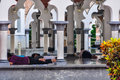 People resting in the mosque in Kuala Lumpur, Malaysia