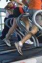 People Running On Treadmill Royalty Free Stock Photo