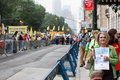 People s climate march nyc protesters at the in new york city september Royalty Free Stock Images
