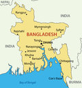 People s republic of bangladesh mapa Fotos de Stock Royalty Free