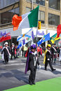 People in Saint Patrick's Day parade Royalty Free Stock Photo