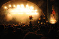 People at San Miguel Primavera Sound Festival Royalty Free Stock Photo