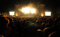 People at San Miguel Primavera Sound Festival Royalty Free Stock Photo
