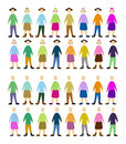 People set of color community Royalty Free Stock Photo