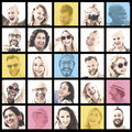 People Set of Faces Diversity Human Face Concept Royalty Free Stock Photo