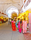 People shop inside the meena delhi india nov bazaar in red fort on november in delhi india bazaar built by mukarmat khan years Stock Photography