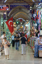People shopping grand bazaar one largest oldest covered markets world Royalty Free Stock Photo