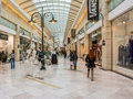 People shopping in luxurious shopping mall bucharest romania march on march bucharest romania Stock Images