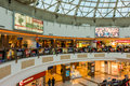People shopping in luxurious shopping mall bucharest romania march on march bucharest romania Royalty Free Stock Photo