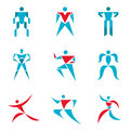 People signs - creative vector collection. Human figures - vector icons set. Human vector logo. Vector logo template. Royalty Free Stock Photo