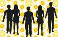 People silhouette Royalty Free Stock Photo