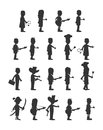 People silhouette graphic art illustration Royalty Free Stock Photo