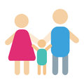 People silhouette happy family cartoon and relationship characters lifestyle vector illustration