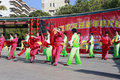 People sing and dance to celebrate the chinese new year Royalty Free Stock Photos