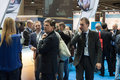 People at smau exhibition in milan italy october visit international of information communications technology on october Stock Images