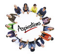 People social networking and aspirations concepts Stock Photos