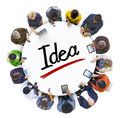 People social networking and idea concept Royalty Free Stock Photos