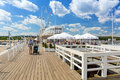 People on sopot molo at baltic sea poland june june is major health and tourist resort destination and this pier with Stock Image