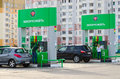 People are spending payment of fuel on automatic filling station gomel belarus april unidentified a street checherskaya gomel Royalty Free Stock Photo