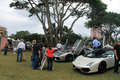 People and sports cars lamborghini on field at car event at boca raton resort in south florida Royalty Free Stock Photo