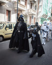 People of st legion take part in the star wars parade in milan italy january official costuming organization wearing perfectly Stock Photo