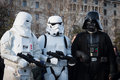 People of st legion take part in the star wars parade in milan italy january official costuming organization wearing perfectly Royalty Free Stock Image